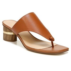 NEW-Franco Sarto Marguet Cognac Blockheel Sandals